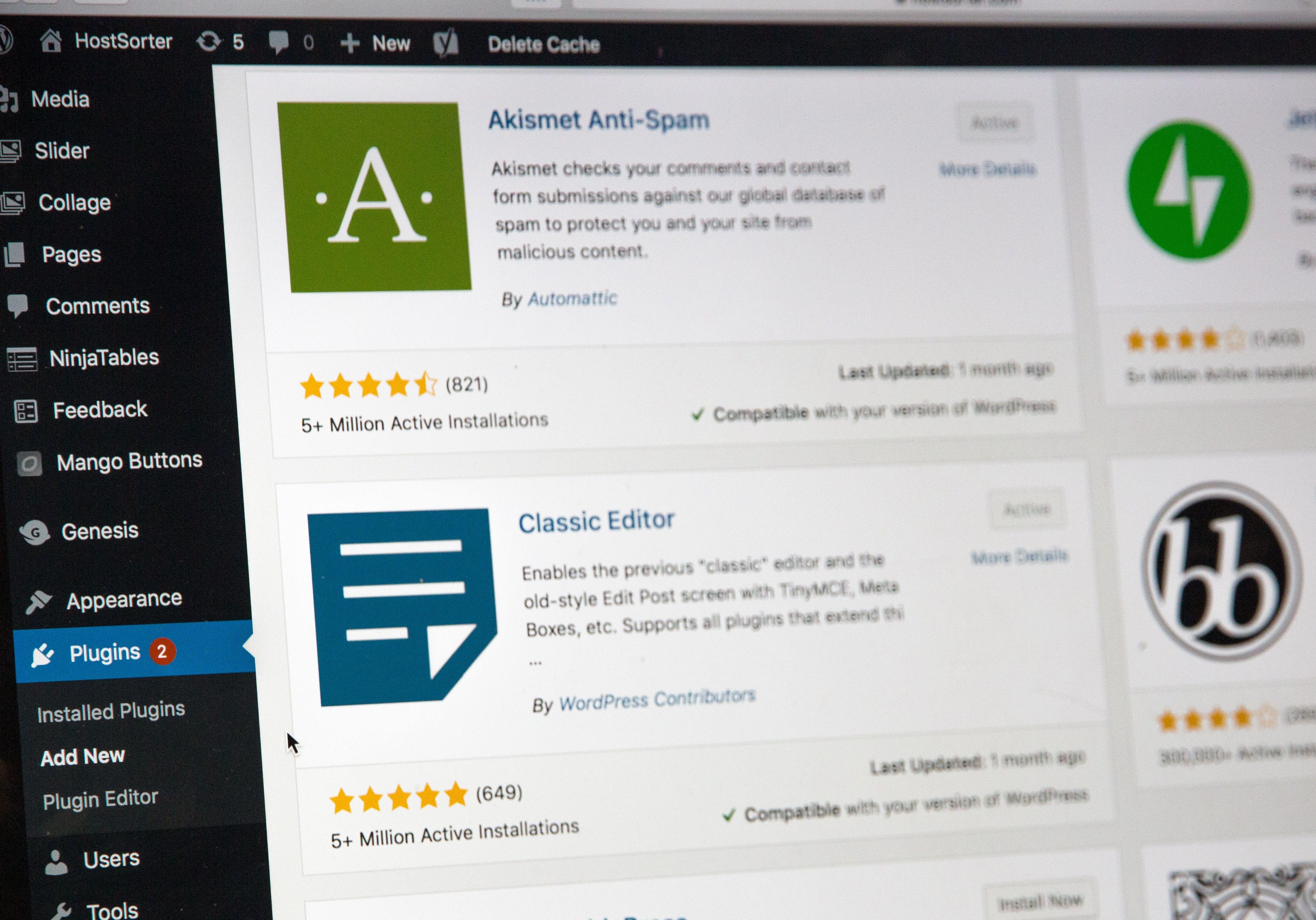 Choisir une extension WordPress